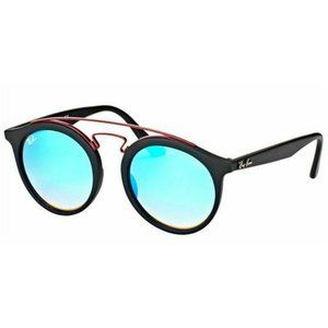 Ray-Ban Round Style Blue Gradient Mirrored Lens
